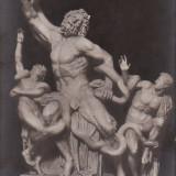 Carte posta veche Muzeu Vatican Statuia Lacoonte gm 112 redus