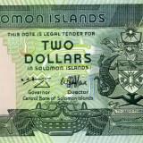 Bancnota Straine - Insulele Solomon 2 dolari unc