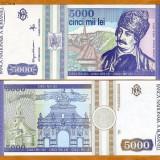 5000 lei 1993 STARE VF