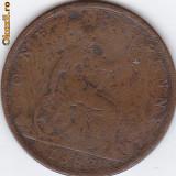 Victoria d g britt reg f d one penny 1887, Europa
