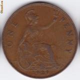 Anglia-Marea Britanie PENNY 1929 regele George V