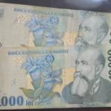 Lot 2 bancnote Romania 10.000 lei 1999