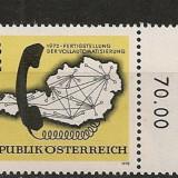 Austria 1972 - HARTA AUTOMATIZAREA TELEFONIEI, timbru MNH B1