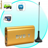 DVB-T Digital TV Receiver for Cars (MPEG-2)(Poate fi folosit ca media player reda de pe USB)
