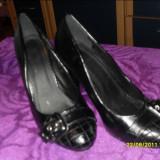 Pantofi negri nr 37 - Pantofi dama, Marime: 36, Fuchsia