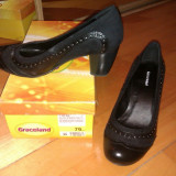 Pantofi dama, Marime: 39, Negru - Pantofi negri Graceland