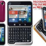 Decodare telefon, Garantie - DECODARE MOTOROLA Flip Out MB511 (toate modelele noi) ONLINE, PE IMEI *** Trimit codul pe mail, Y, Skype etc. *** PRET PROMOTIONAL ***