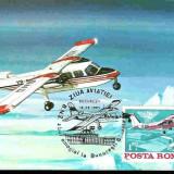 Ilustrata maxima aviatie - avion BN2, zbor omagial la Bucuresti - Baneasa