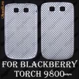 Carcasa BLACKBERRY 9800 - WHITE AIR MESH - BLACKBERRY 9800 - CARCASA POLICARBONAT DE PROTECTIE BLACKBERRY TORCH 9800