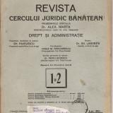 Revista Cercului Juridic Banatean-Timsoara, 1934, nr.1=2