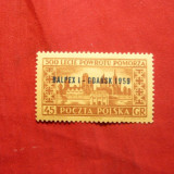 Serie- Expoz.Filat. Gdansk 1959 Polonia, 1val.cu supratipar - Timbre straine