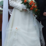 Rochie mireasa crem sampanie - Rochie de mireasa printesa