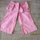 Haine Copii 6 - 12 luni, Pantaloni, 68 (6 luni, inaltime 63 - 68 cm), Roz - Pantaloni fete 6-12 luni