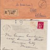 Plic Papetarie - PLIC 2TIMBRATE ; 1PARIS FRANTA 1930, SI 2 1957 MAZAMET FRANTA-OCPP 124