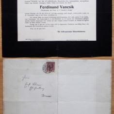 SCRISOARE ANUNT DECES - DOLIU DIN 30.06.1914 **, Europa