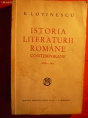 Studiu literar - E. LOVINESCU - Istoria Literaturii Romane Contemp.1900-1937