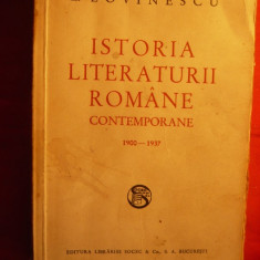 E. LOVINESCU - Istoria Literaturii Romane Contemp.1900-1937 - Studiu literar