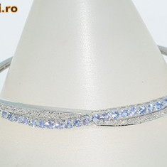Bratara aur alb 14K cu tanzanite&diamante naturale 1, 40CT