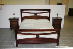Pat dormitor - Pat Matrimonial Lemn Masiv din Tei