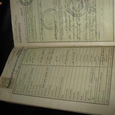 CARTE DE MUNCA TOROK SANDOR1941 - Pasaport/Document