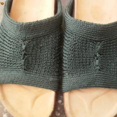 Papuci tricotati - Papuci dama, Marime: 36, Khaki