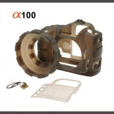 Husa silicon Camera Armor pentru Sony Alpha A100 - Husa Aparat Foto, Gri