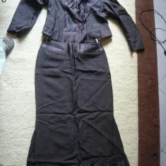 Costum dama, Costum cu fusta - Costum de dama/femei, 2 piese, fusta plus sacou, marimea L, marca Heimann Moden, LICHIDARE DE STOC!