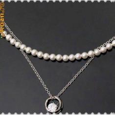 LICHIDARE STOC !!! - SUPER ORIGINAL !!! - Set format din sirag de perlute si lantisor, care pot fi purtate impreuna sau separat - Colier perle