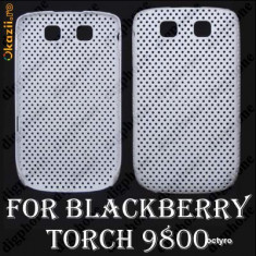 Carcasa BLACKBERRY 9800 - WHITE AIR MESH - BLACKBERRY 9800 - CARCASA POLICARBONAT DE PROTECTIE BLACKBERRY TORCH 9800