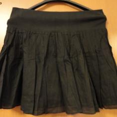 DIVIDED by H&M Fusta G Unit neagra incretita, model deosebit, marimea M, doar 49 lei!!!, Mini, Larga, Fuchsia, Bumbac