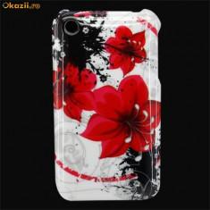Husa 2  flower power  iphone 2 3 3gs cool + folie protectie ecran