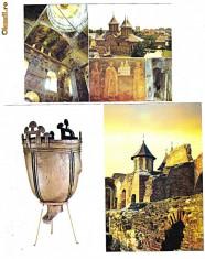 Carti Postale Romania dupa 1918 - Targoviste-Curtea Domneasca, Cazan Hunic din muzeul curtii, LOT 3 ilustrate postale
