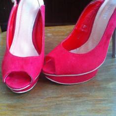 Sandale dama rosii deosebite, Marime: 36, Visiniu