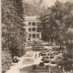 CPI (B608) BAILE HERCULANE, VEDERE DIN PARC, EDITURA CPCS, CIRCULATA, 1958, STAMPILE, TIMBRU - Carte Postala Banat dupa 1918, Fotografie
