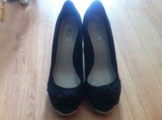 Pantofi dama, Marime: 36.5, Fuchsia - Platforme Pull and Bear