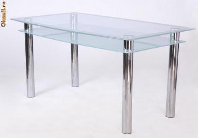 masa sticla bucatarie Staer ( 6 persoane ) foto