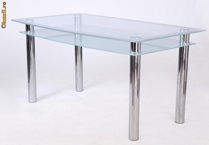 masa sticla bucatarie Staer ( 6 persoane ) foto mare