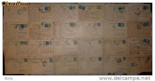 28 carti postale interbelice , din care 4 cu cenzuri din al doilea razboi mondial foto mare