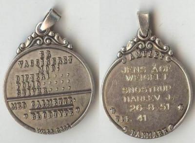 Medalion din argint, medical foto