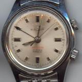 Ceas barbatesc, Casual, Mecanic-Manual, Inox, Alarma, Analog - Ceas mecanic 17 rubine, Droz, Elvetia, ceas cu sonerie