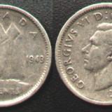 Canada 10 CENTS 1943 argint George VI., America de Nord