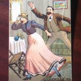 Carti Postale Romania dupa 1918 - Carte postala perioada 1920 satira-desene