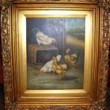 Pictura pe Lemn - Pictor roman