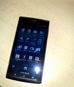 Vand Sony Ericsson Xperia X10i foto