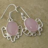 Cercei argint - Cercei din ARGINT 925 cu agate roz