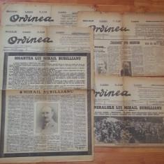 patru ziare Ordinea (1931, director Mihail Burillianu)