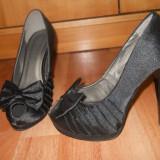 Pantofi dama, Marime: 38, Negru - Pantofi noi