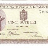 1.Bancnota 500 lei 19 XI 1940, UNC. filigran VERTICAL