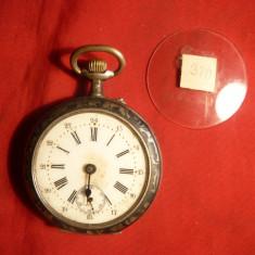 Ceas de Buzunar marca Remontoir, carcasa argint marcata