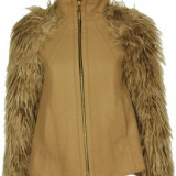 JAchete zara si paltoane - Palton dama Zara, Marime: M, XS, Culoare: Camel, Negru, Lana